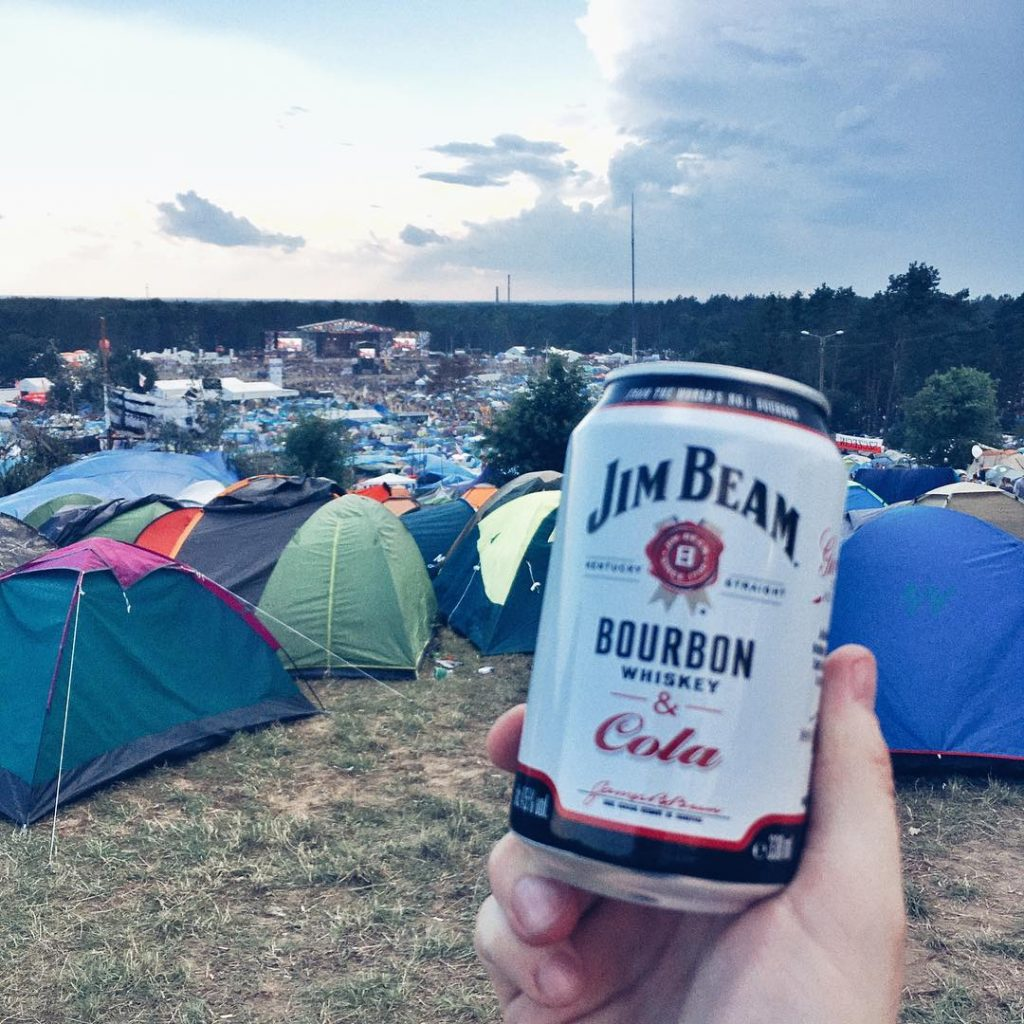 Jim Beam White Label z Colą