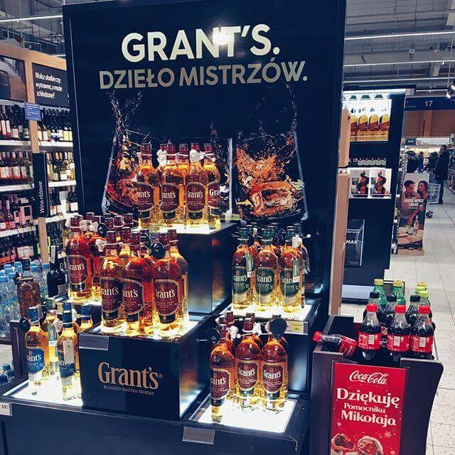 Whisky Grant's w Hipermarketach