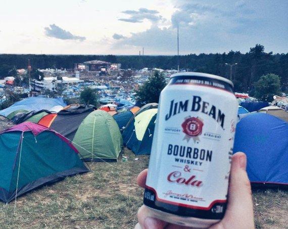 Puszka Jim Beam Bourbon z Colą