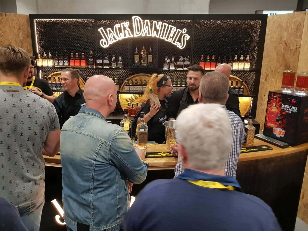 Stoisko marki Jack Daniels na Whisky Live Warsaw 2018