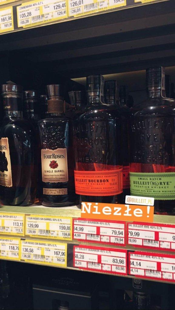 Butelka Bulleit Bourbon z Makro