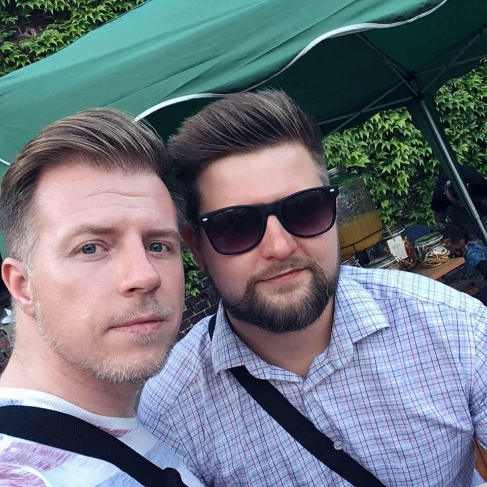 Mariusz Kowalczyk z bloga jakpicwhisky.pl i Rafał Nawrot z Wild Turkey