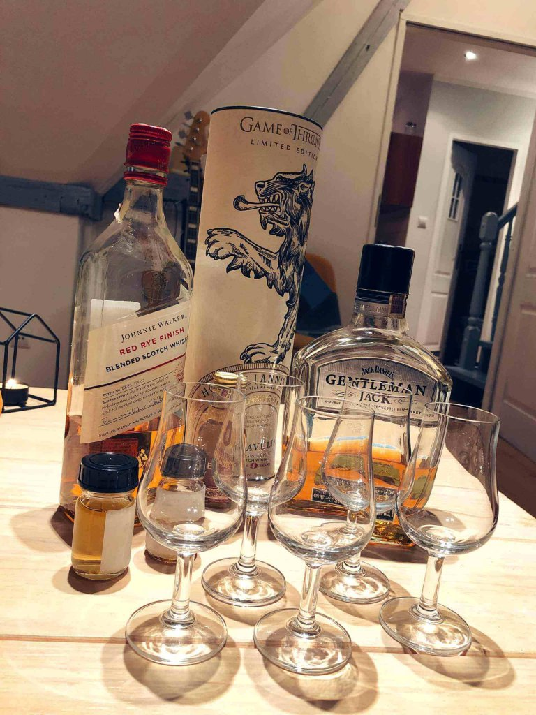 Lagavulin 9, Johnnie Walker Red Rye Finish, Gentleman Jack