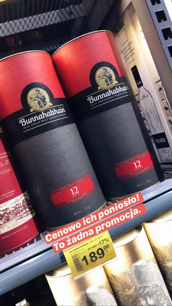 Promocja Bunnahabhain 12 Carrefour
