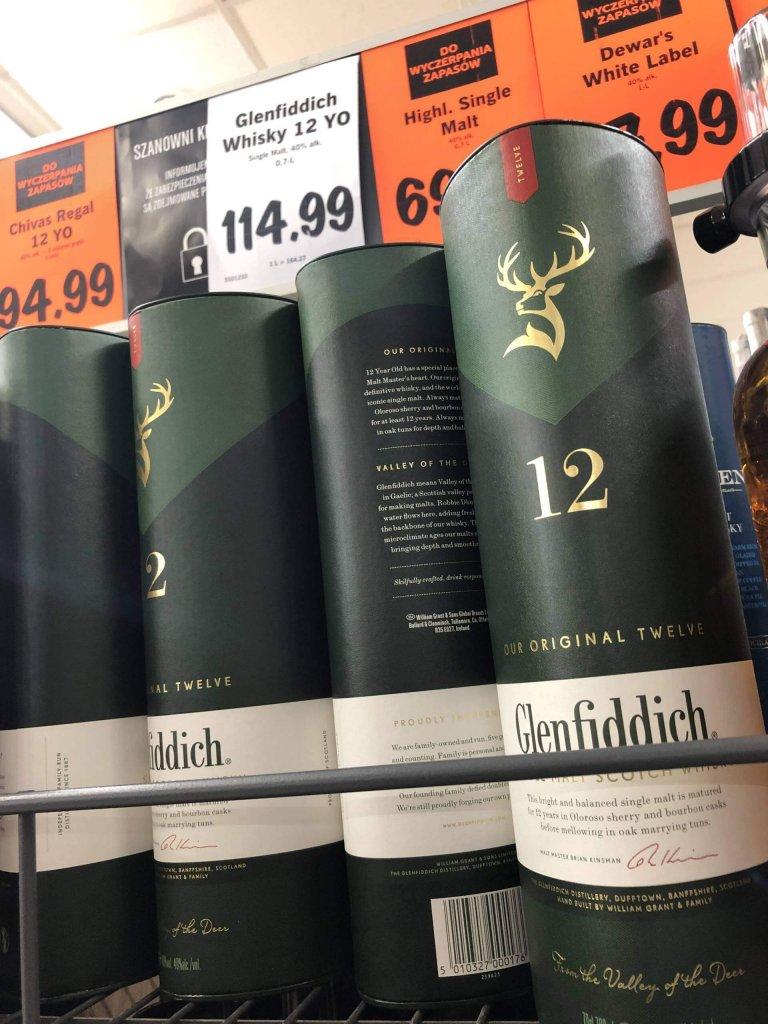 Whisky Glenfiddich 12 Lidl Promocja