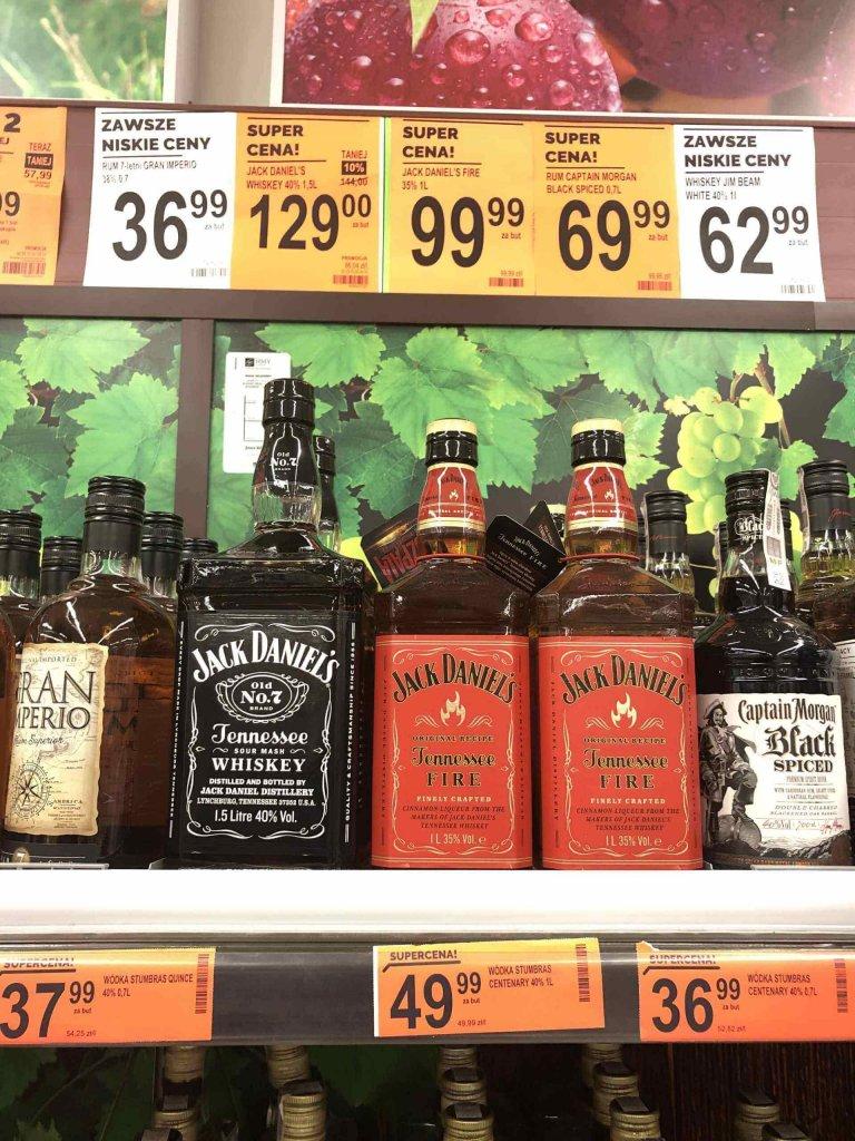 Jack Daniels i Jack Daniels Fire Promocje Biedronka