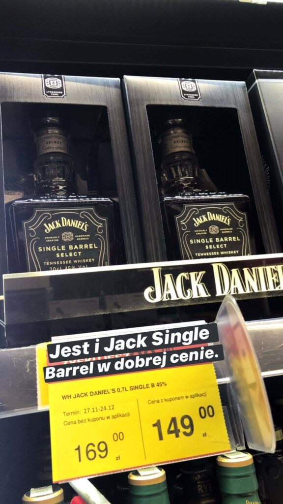 Jack Daniels Single Barrel Promocja Carrefour