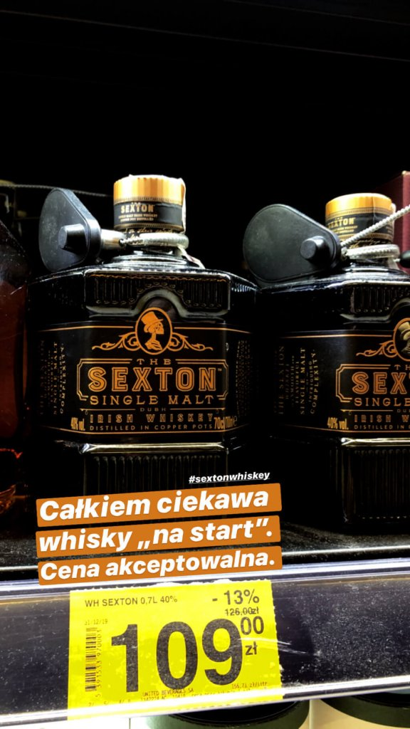 Sexton Single Malt Irish Whiskey - Carrefour