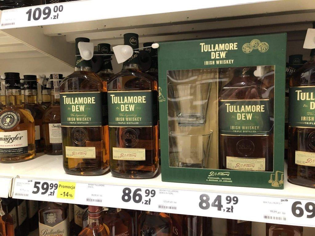 Tullamore DEW w zestawie ze szklankami w Tesco