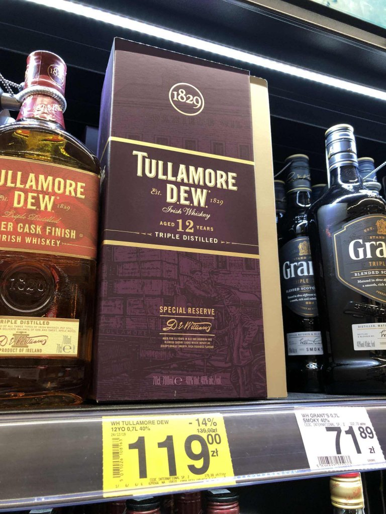 Whiskey Tullamore DEW Carrefour