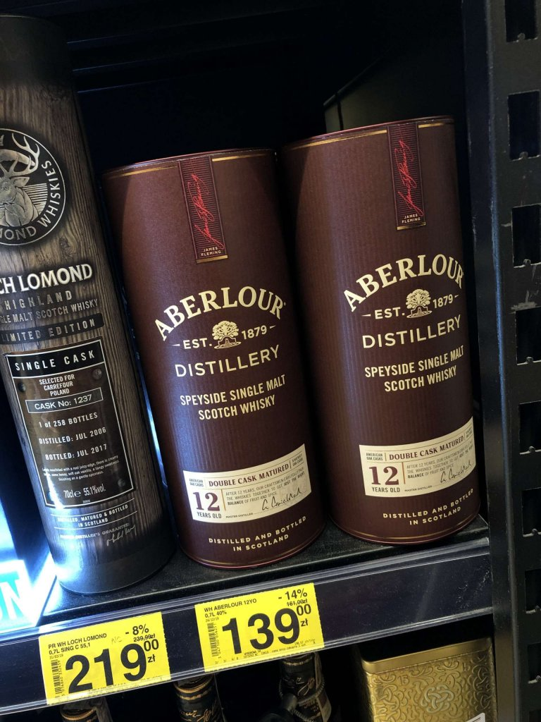 Whisky Aberlour 12 Carrefour