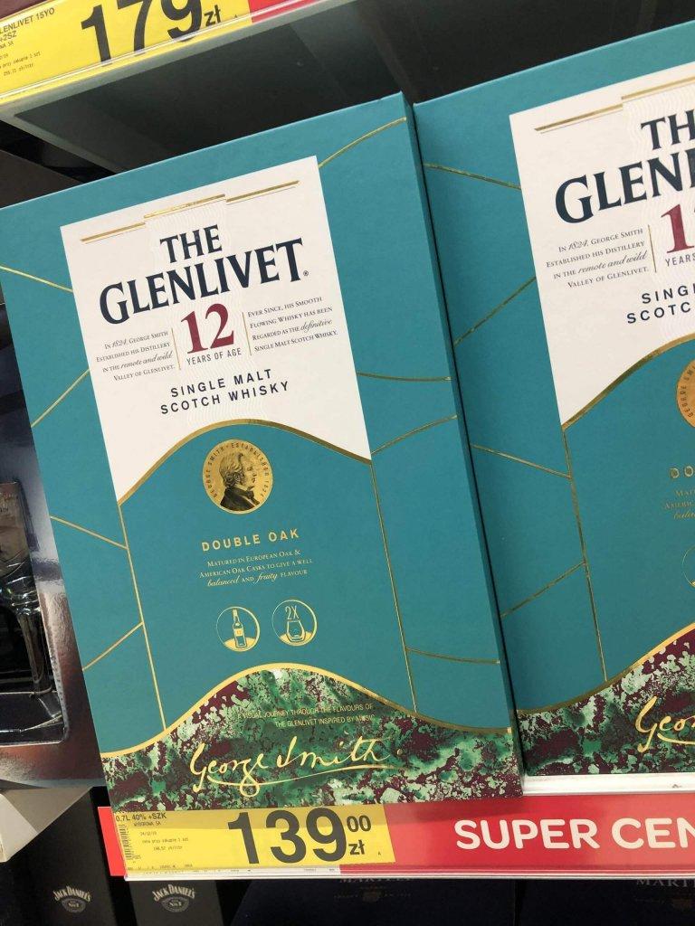 Zestaw The Glenlivet 12 ze szklankami Carrefour