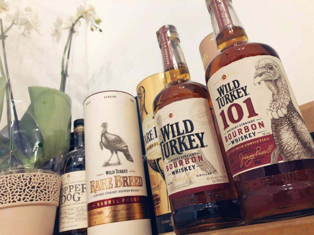 Portfolio alkoholi z destylarni Wild Turkey
