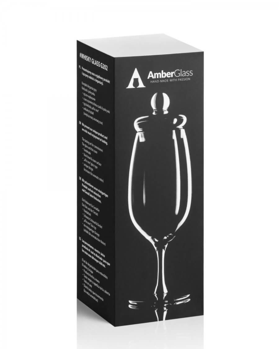 Czarny kieliszek do degustacji whisky, model G202 Amber Glass