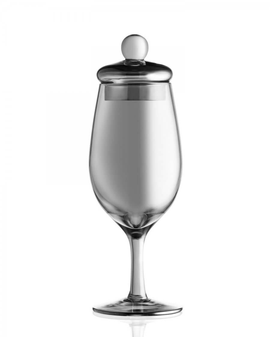 Czarny kieliszek do whisky, G202 Amber Glass