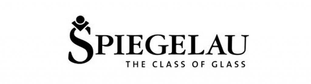 Logo marki Spiegelau, producent kieliszków do whisky